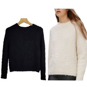 Aritzia Wilfred Free Kroes Boucle Mohair Sweater